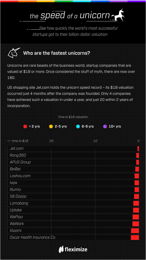 See how quickly the world's most successful startups reached their billion-dollar valuations